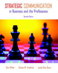 Strategic Communication in Business and the Professions by H. Dan O'Hair image