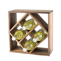 Rustic Farmhouse: Acacia Wood Lattice Wine Rack