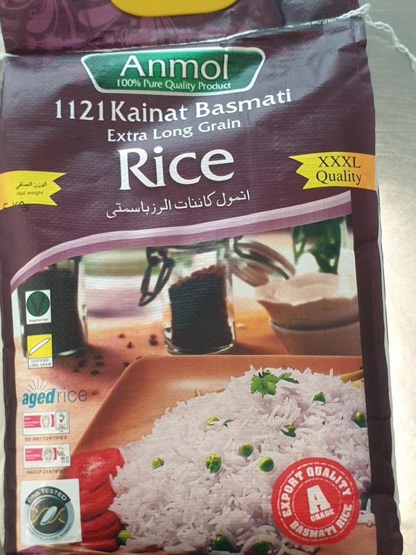 Anmol Basmati Steamed Extra Long Grain Rice 5kg