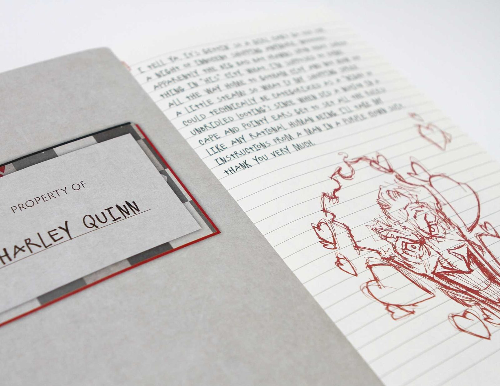 Harley Quinn Hardcover Ruled Journal by Matthew K Manning image