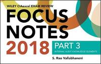 Wiley CIAexcel Exam Review 2018 Focus Notes, Part 3 by Wiley