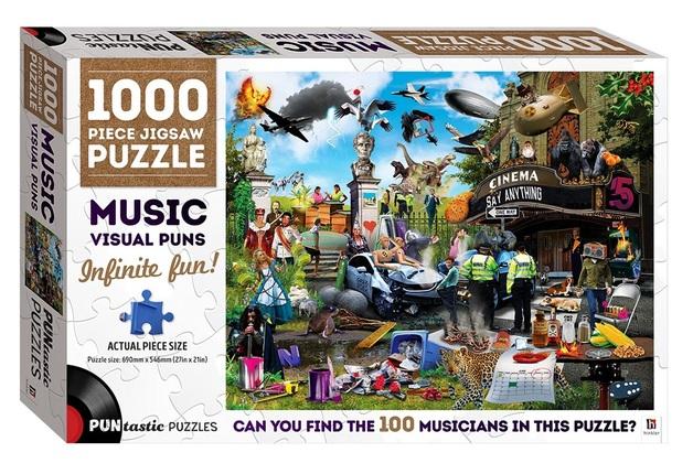 Hinkler: Puntastic 1000-Piece Puzzle - Musician