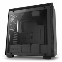 NZXT H700 Premium Mid Tower Case with Tempered Glass - Matte Black