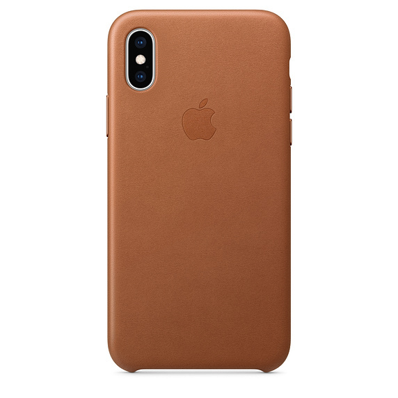 Apple: iPhone XS Leather Case - Saddle Brown