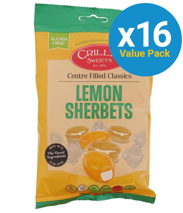 Crillys: Lemon Sherberts 130g (16 Pack)