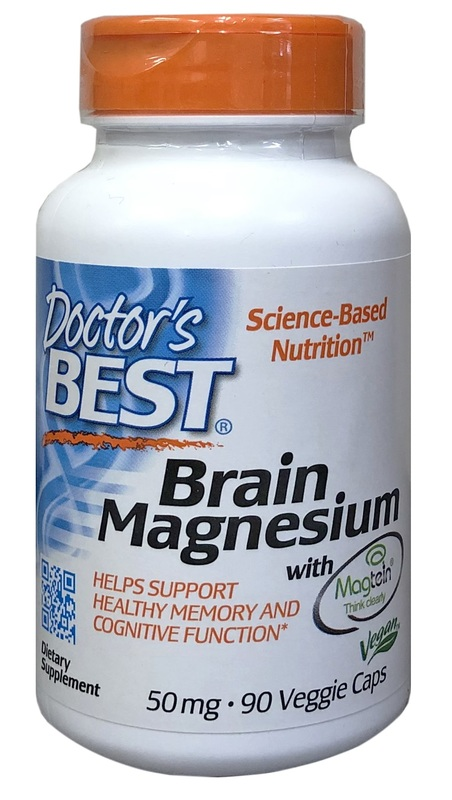 Doctor's Best Brain Magnesium 50mg (90 Veggie Caps)