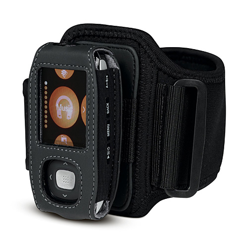 Belkin Neoprene Sports Armband/Belt Clip case for  Samsung T9 Black image