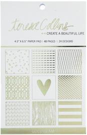 "Teresa Collins - Gold Glam Paper Pad Mat Stack 4.5"" x 6.5"""