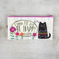 Natural Life: Recycled Zip Pencil Bag - Happy Today