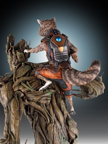 Guardians of the Galaxy Rocket Raccoon & Groot Statue image