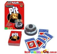Deluxe Pit Card Game with Bell