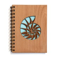 Cardtorial Wooden Journal - Nautilus
