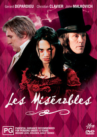 Les Miserables on DVD image