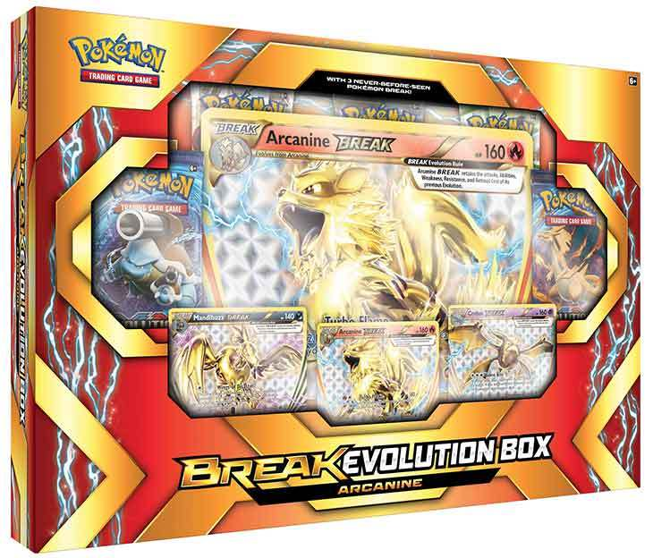 Pokemon TCG Break Evolution Box Featuring Arcanine image