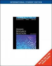 Human Resource Selection by Hubert S. Feild image