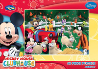 Mickey Clubhouse 60 Piece Jigsaw Puzzle - Mickey's Mouseka Tractor