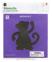 EC Colours - Jungle Stencil Set - Pack of 6