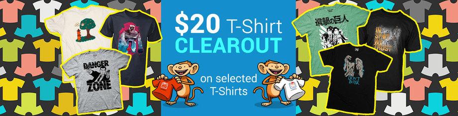 $20 T-Shirt Clearance