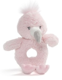 Gund: Toothpick Flamingo - Ring Rattle