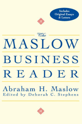 The Maslow Business Reader by Abraham H. Maslow image