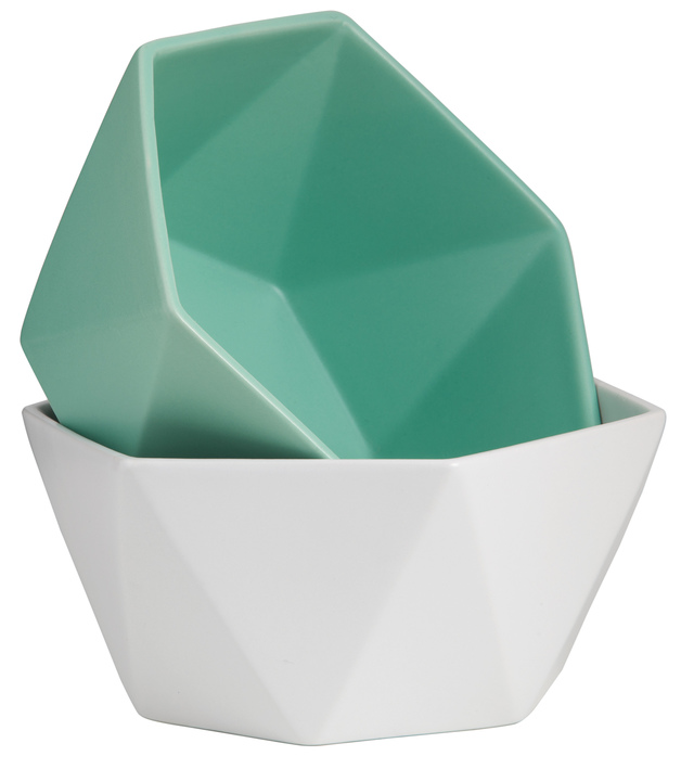 General Eclectic Origami Bowl White At Mighty Ape Nz