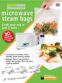 Quickasteam Mircowave Cooking Bags Medium (30 Pack)