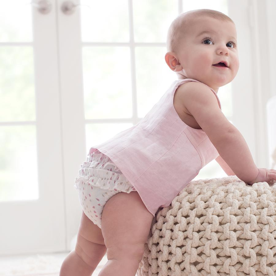 Aden + Anais: Smock Top - Lovely Pink (9-12 Months) image