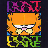 Don't Know, Don't Care by Jim Davis image