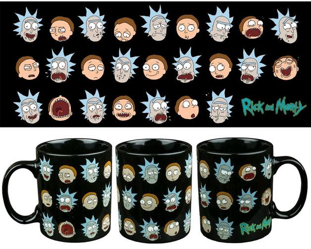 Rick and Morty Faces Mug