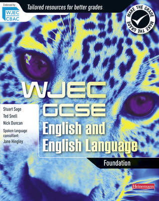 WJEC GCSE English and English Language Foundation Student Book by Ted Snell image