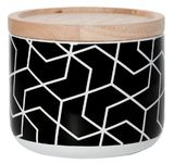 General Eclectic Canister - Black Hexagon