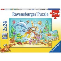 Ravensburger: Diving Adventure Puzzle - 2x12pc Puzzle