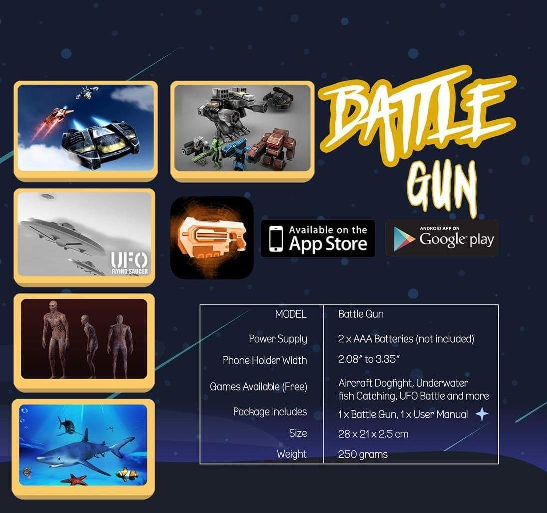 Battle Gun - Augmented Reality Gaming & Entertainment Gun image
