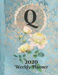 Plan On It Large Print 2020 Weekly Calendar Planner 15 Months Notebook Includes Address Phone Number Pages - Monogram Letter Q by Nine Forty Publishing image
