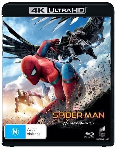 Spider-Man: Homecoming on Blu-ray, UHD Blu-ray