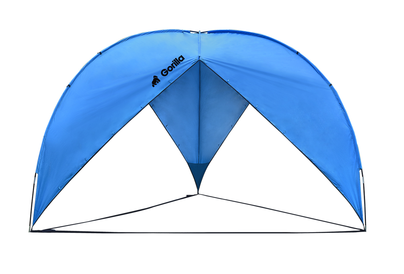 Triangle Beach & Sun Shade Shelter (380x380x230cm)   Blue image