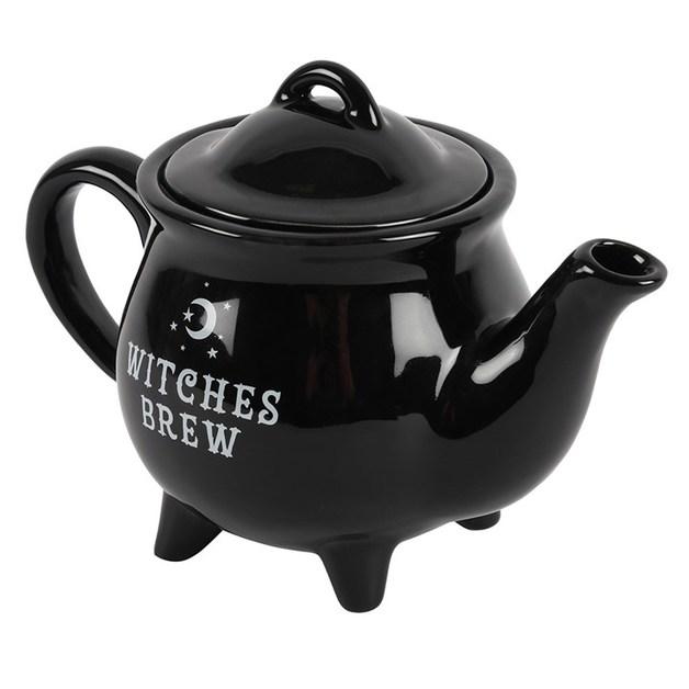 Witches Brew - Black Ceramic Tea Pot