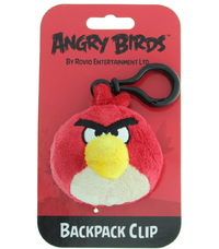 Angry Birds: Backpack Clip Toy - red image