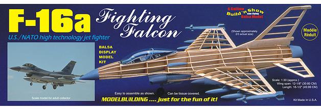 F-16a Fighting Falcon 1:30 Balsa Model Kit