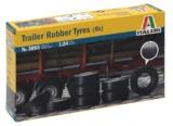 Italeri: 1:24 Rubber Trailer Tires (8 Pcs)
