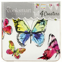 Cooksmart Pack of 4 Coasters - Butterfly