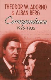 Correspondence 1925-1935 by Theodor W Adorno image