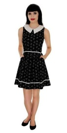 Retrolicious: Cat Faces Glow in the Dark Dress - (XL)