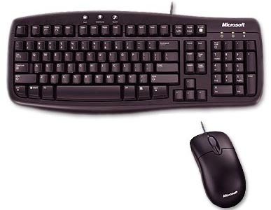 Microsoft Basic Black Keyboard & Mouse Value Pack 3pk CA9-00002