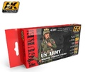 AK US Army Soldier Uniform Colours - Acrylic Paint Set