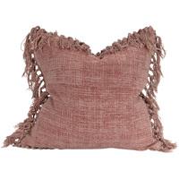 Raine & Humble Jute Tassel Cushion (Mushroom Pink)