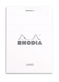 Bloc Rhodia White A7 - Lined