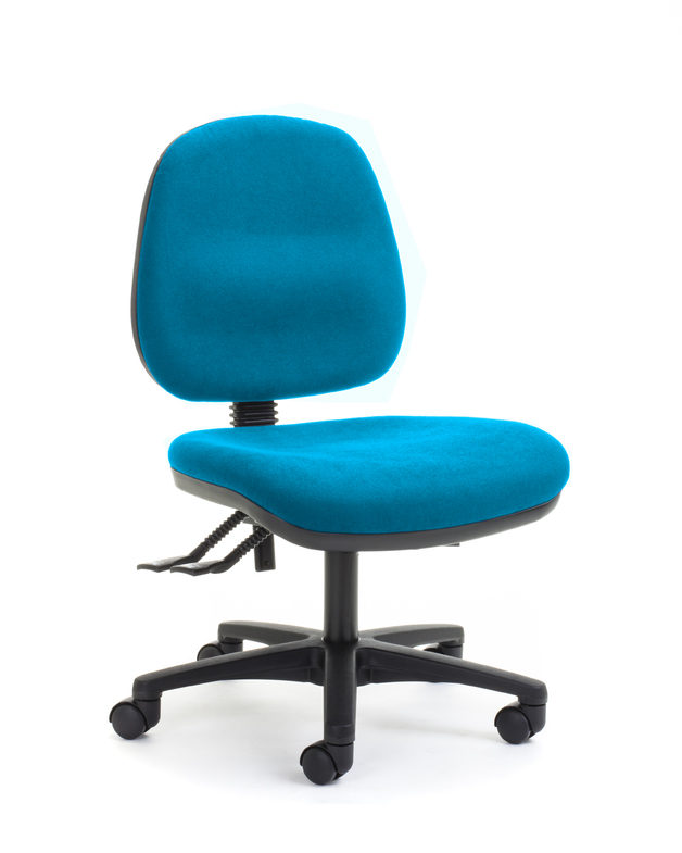 CS Alpha 2 Lever Mid Back Task Chair - Turquoise