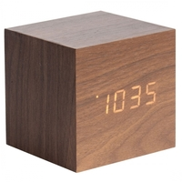 Karlsson Alarm Clock - Mini Cube (Wood)