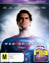 Man of Steel 3D on Blu-ray, 3D Blu-ray, UV